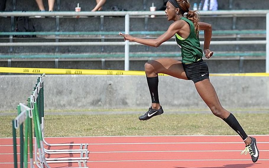 Kubasaki senior Ja'Tavia Callier hopes to set a new Far East meet standard in the 100 hurdles. She already holds the Pacific record.