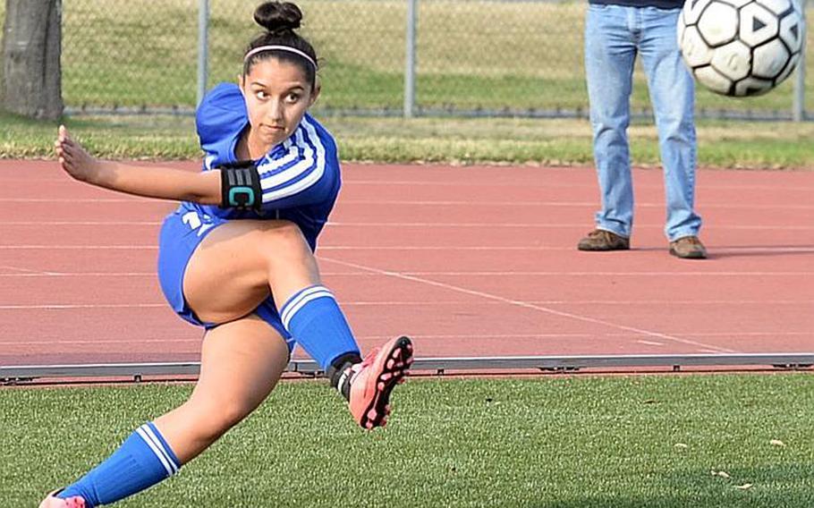 Yokota senior Regina Dukat leads Division II in assists with 25 entering the Far East tournament.
