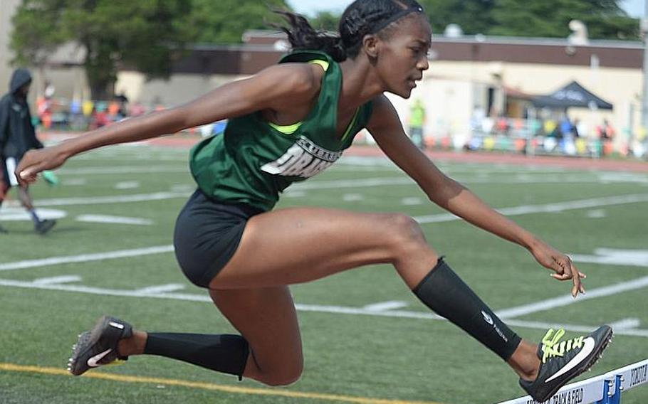 Kubasaki senior Ja'Tavia Callier has been named Stars and Stripes Pacific girls track and field Athlete of the Year.