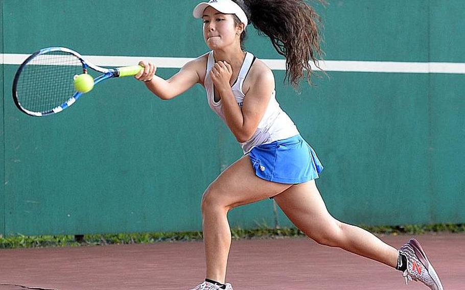 Junior Layla Standbridge headlines a group of three returners for Yokota's girls tennis team.