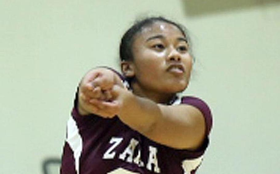 Zama's Grace Bryant, last year's D-II MVP, had 20 kills to pace the Trojans past Edgren in Saturday's final.