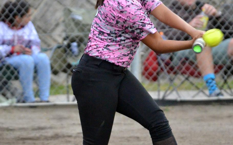 Slugging Kadena junior Brianna Wilson helped lead the Panthers to their third straight Far East Division I Tournament title last May.