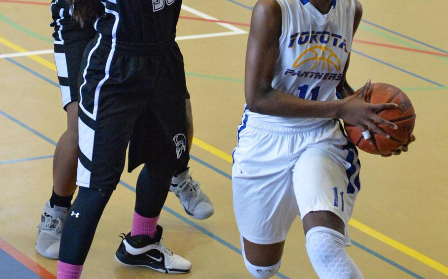 Freshman point guard Kaliah Henderson of Yokota earned MVP honors for the two-time defending Far East Division II Tournament champion Panthers and was named Stars and Stripes Pacific high school girls basketball Athlete of the Year. She has since transferred to Florida.