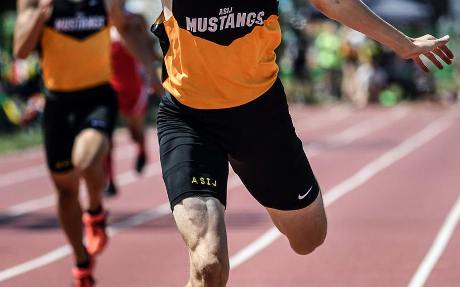 American School In Japan senior Britt Sease exits Pacific track and field as the region record holder in the 400 (48.06 seconds), 800 (1:51.89) and 3,200 relay (8:06.52). He now moves on to the University of Arkansas.