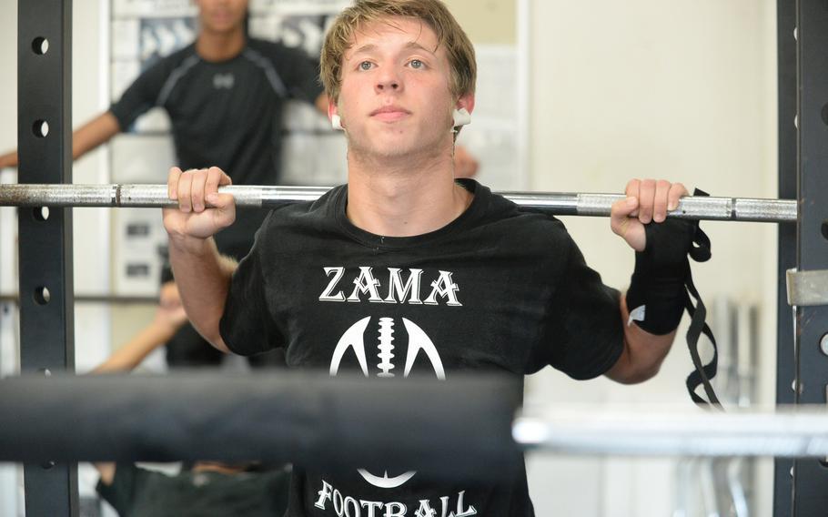 Senior Jacob Clark will help hold down the Zama football defense at inside linebacker.