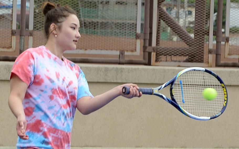 Osan American senior Gabby Kowalk might benefit from a Far East tennis tournament field that's absent last year's singles champion and runner-up.