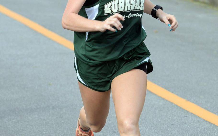 Sophomore Elizabeth Joy of Kubasaki won five straight races to close the Okinawa season, including the district title in a personal-best 20 minutes, 16 seconds.