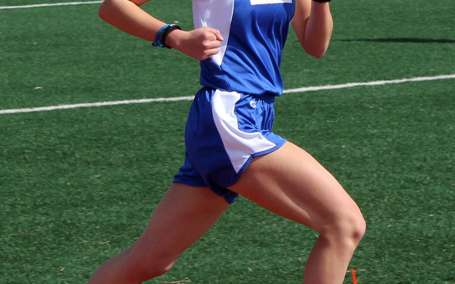 Seoul American senior distance runner Chloe Byrd won the 800 in 2 minutes, 39..68 seconds, 1,600 in 5:53.52 and 3,200 in 12:50.99 in Saturday's DODEA-Korea season-opening track and field meet.