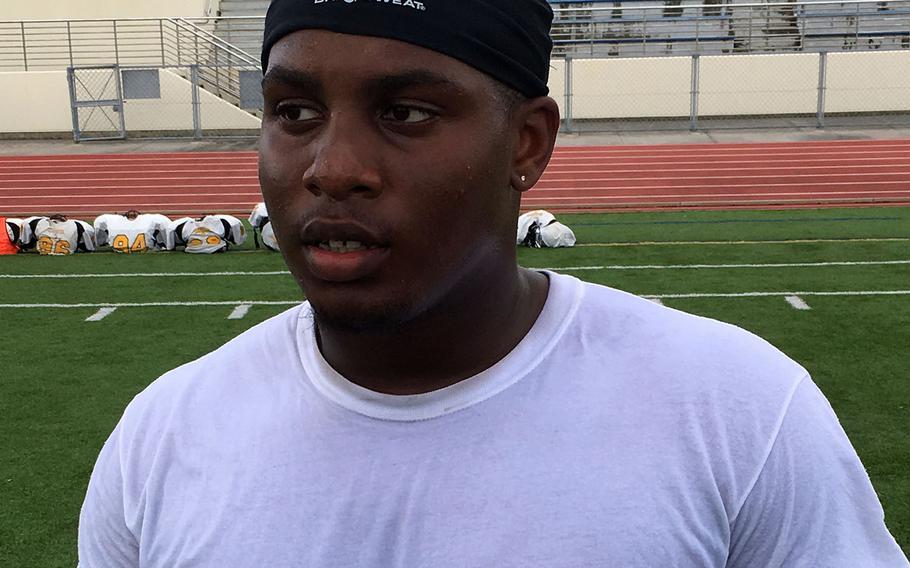 Kadena senior running back Uriah Morris ran for a heap of yards last season, gaining 546 yards and four touchdowns on 70 carries.