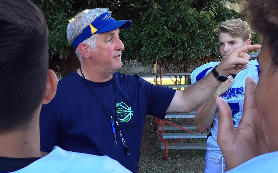 Tim Pujol, dean of DODEA-Pacific high school coaches, begins his 20th season at Yokota's football helm.