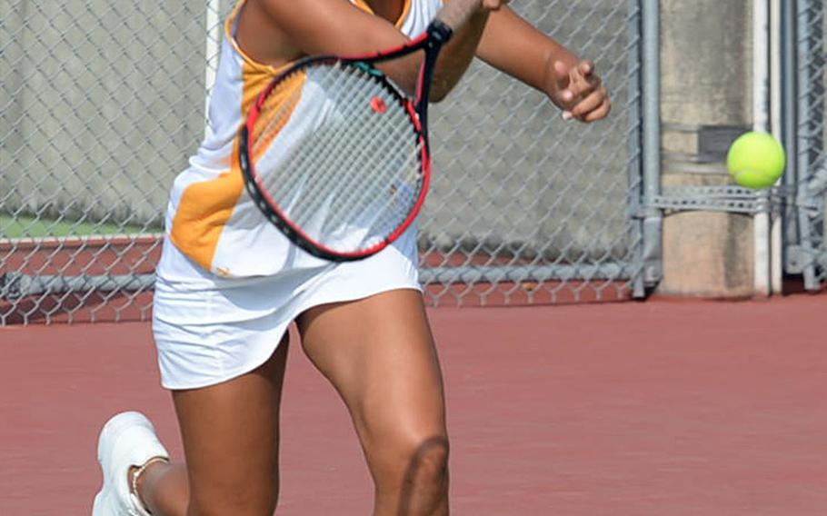 Maddie Tsirlis and Kadena's tennis team heads to Marine Corps Air Station Iwakuni for weekend matches against E.J. King and host Matthew C. Perry.