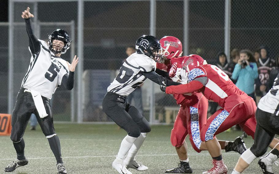 Quarterback Nick Canada was a bright spot on offense for Zama, scoring the Trojans' lone points on a 60-yard run.