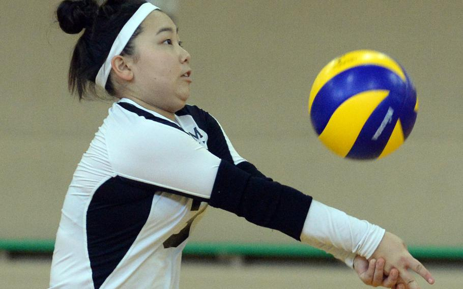 Aika Davis and Zama American enter the DODEA Japan girls volleyball tournament as the No. 1 seed for the first time.
