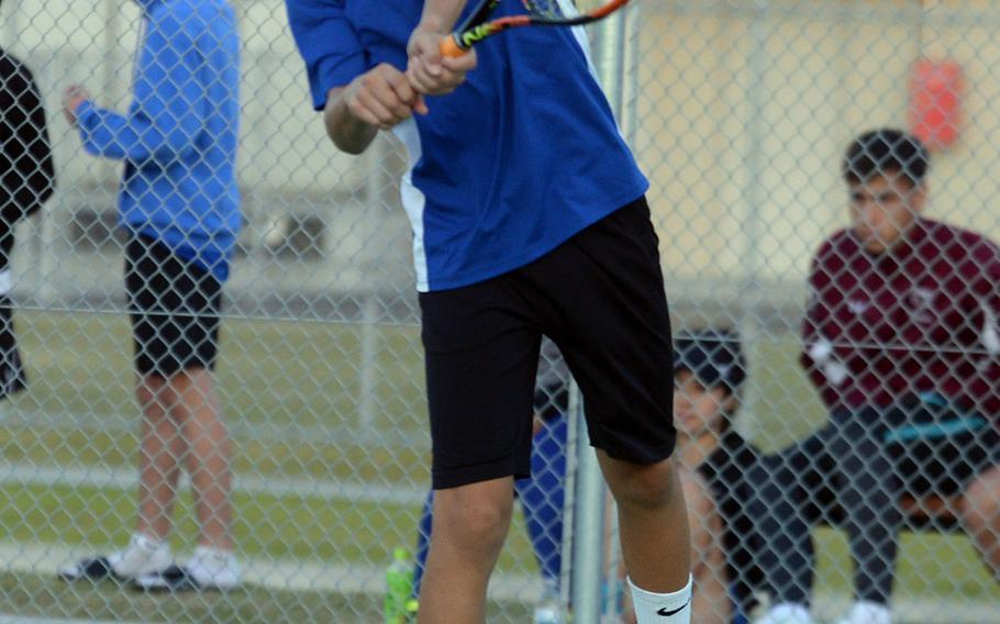 Yokota freshman Kai Deremer enters the Far East tennis tournament as the boys singles No. 1 seed.
