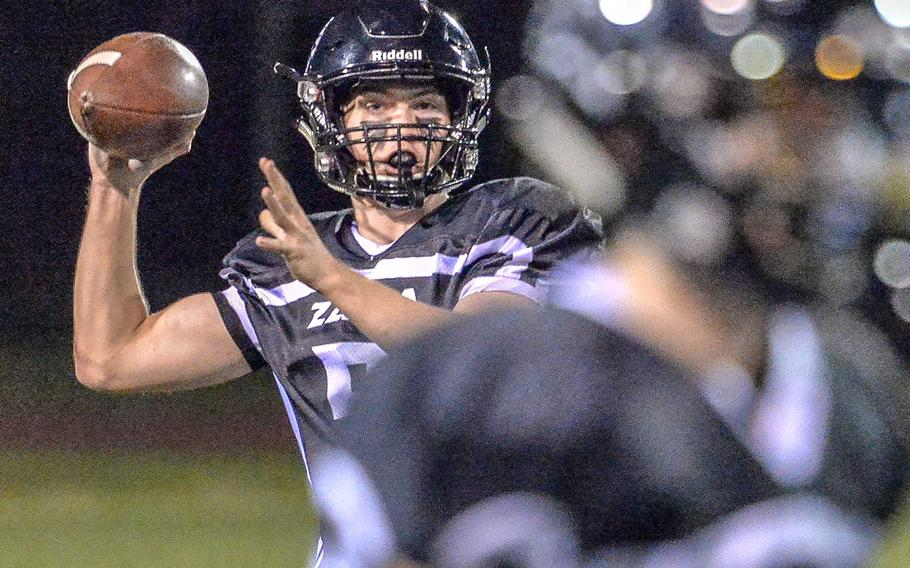 Zama quarterback Nick Canada had a rushing and a passing TD in the losing cause. He finished the season having accounted for 22 touchdowns, 16 in the air.
