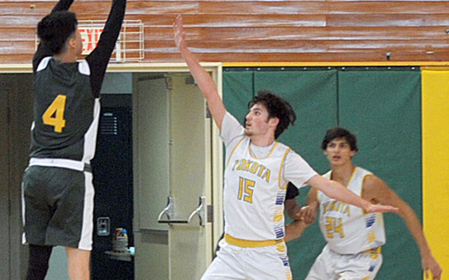 Robert D. Edgren's Riley Palfy and fellow transfers Chauncey Williams, Quan Thompson and Amos Alsvig, hit the road for the first time this season playing at Zama on Friday and Saturday.
