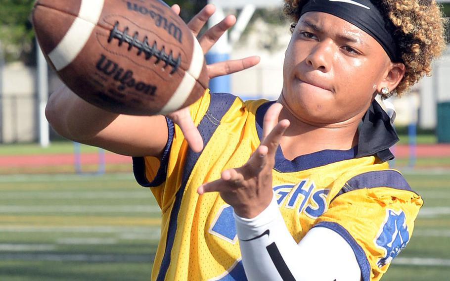 Travon Jacobs will be in his third year under center and in the shotgun for Guam High football.