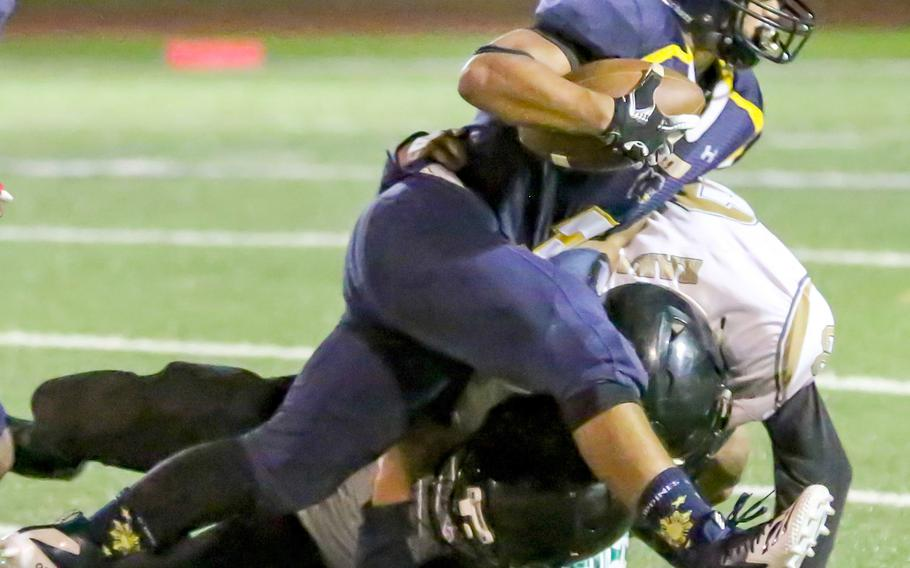 Guam High running back Julius Gaduang had 245 yards and three touchdowns on nine carries.