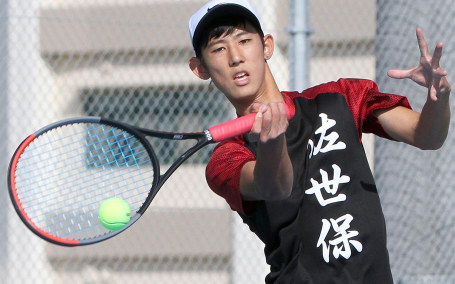 E.J. King's Takumi Kodama won the DODEA-Japan boys singles A title and teamed with Kaito Bergman to win the doubles crown.