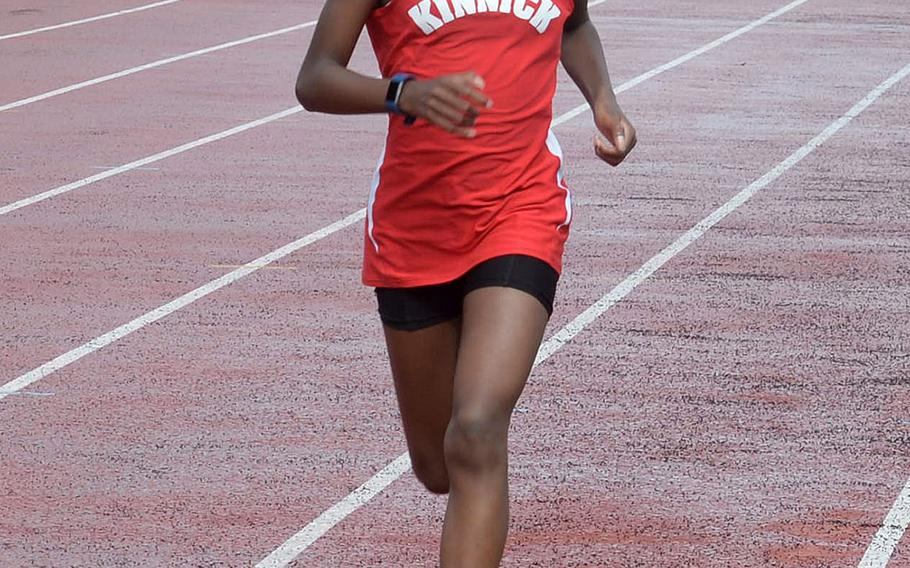 Nile C. Kinnick freshman Makia Henry was the surprise girls winner in the DODEA-Japan cross country finals.