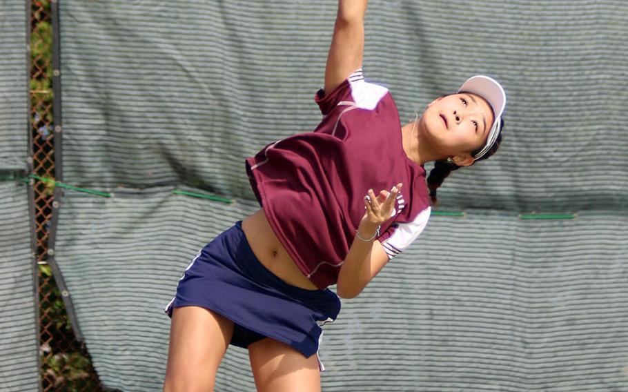 Seisen's Sarah Omachi reached her third Far East tennis tournament girls singles final.