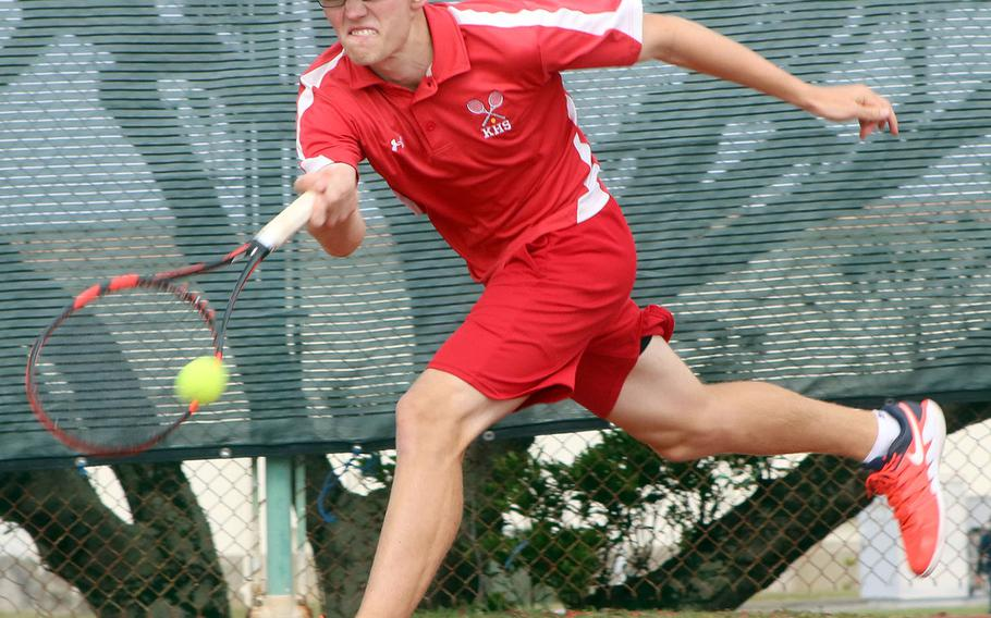 Kinnick's Daniel Posthumus becomes his school's first Far East boys singles finalist since 2008 and DODEA-Pacific's first in nine years.
