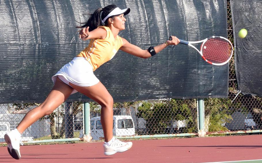 Kadena sophomore Ally Johnson was the highest-finishing DODEA-Pacific girls singles player, placing third.