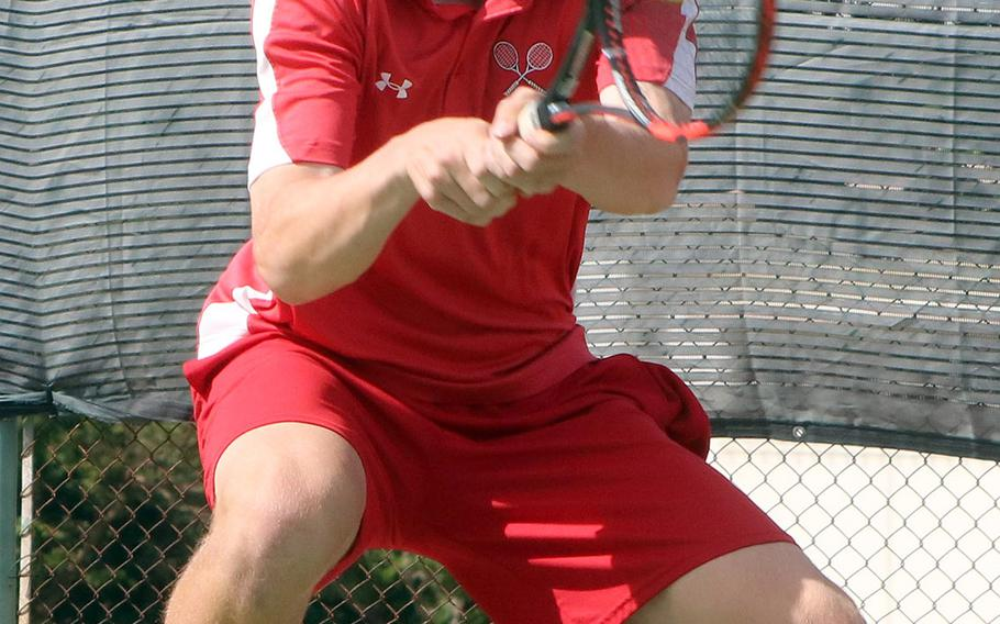 Kinnick senior Daniel Posthumus was trying to become the first DODEA-Pacific Far East tournament boys singles champion in 11 years.