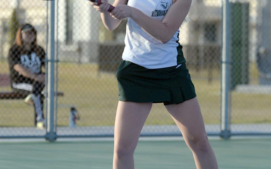 Two-time defending DODEA-Japan singles tennis champion Jenna Mahoney of Robert D. Edgren expressed sadness about not being able to defend her title and see old friends and opponents at other schools.