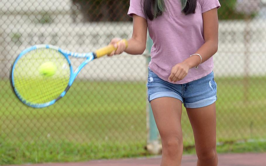 Knowing that a snap back to Health Protecton Condition C could make all the athletics go away, Kubasaki's No. 1 girls singles tennis seed Natalie Oboza said she's not taking anything for granted.