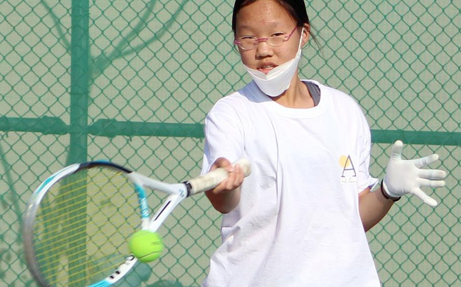 Ashley Kim and Humphreys were slated to host Wednesday's DODEA-Korea district tennis finals, which were canceled due to a forecast of cold weather.