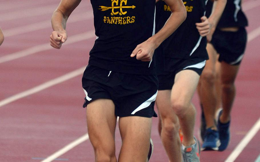 Kadena junior Joe Renquist captured the Far East cross country boys Division I title with a time of 17 minutes, 31.5 seconds.