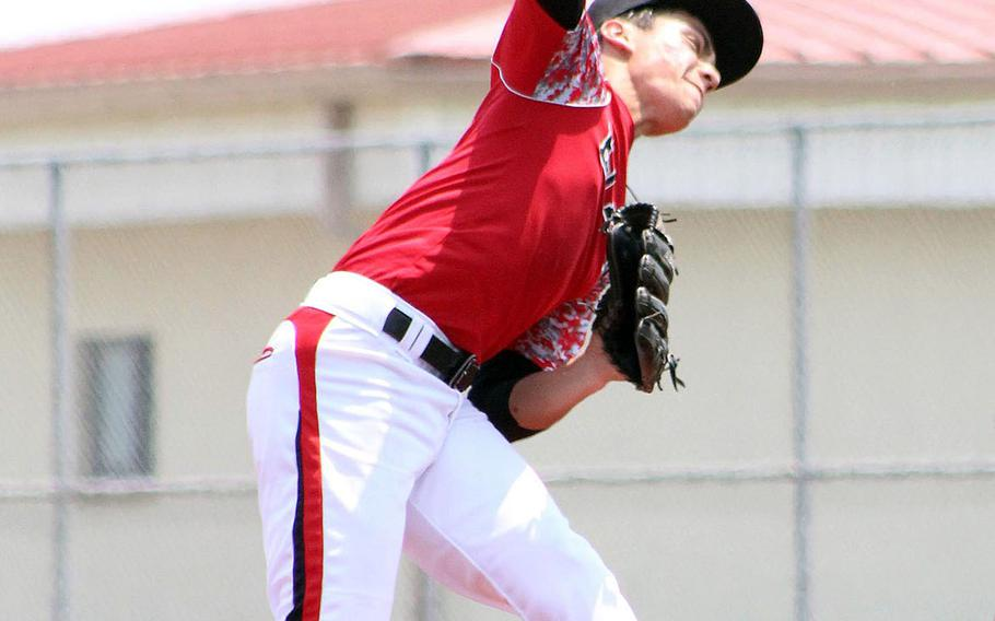 E.J. King's Leo Schinker took the loss in the Division II baseball final; he had the lone hit for the Cobras in a 10-0 loss to Yokota. Schinker was 3-2 with two saves overall during the season.