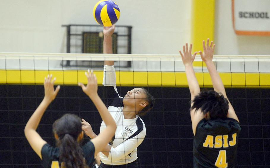 Grace Bryant, a Zama senior spiker, won the 2018 Far East Division II Tournament Most Valuable Player award, was named 2019's Best Hitter and was named All-Tournament her first three seasons for the Trojans. The coronavirus pandemic killed any chance the Trojans had to defend their D-II title and for Bryant to accrue more honors.