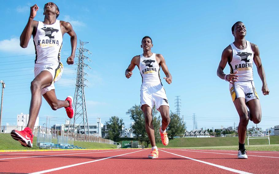 Kadena sprinters Troy O'Connor, Winston Clark and Kevonte Speight are set to begin their track and field season Saturday.