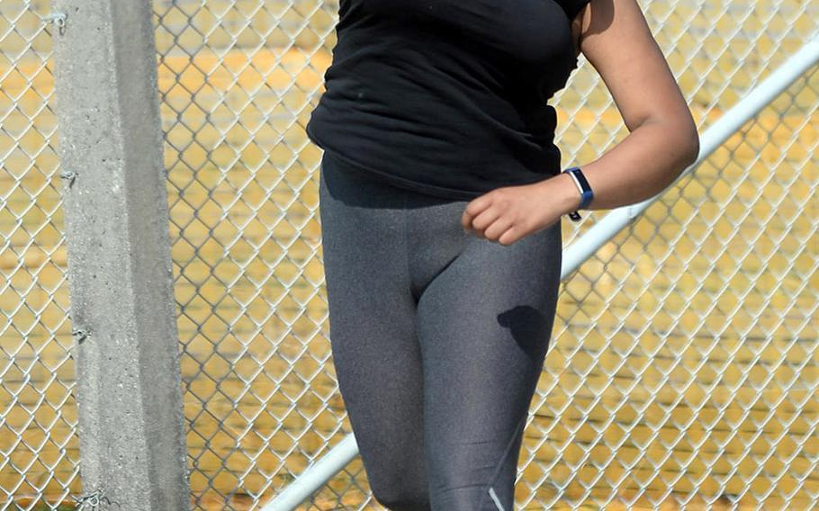 Junior Ximena Diggs will throw shot put and discus for Kubasaki's track and field team.