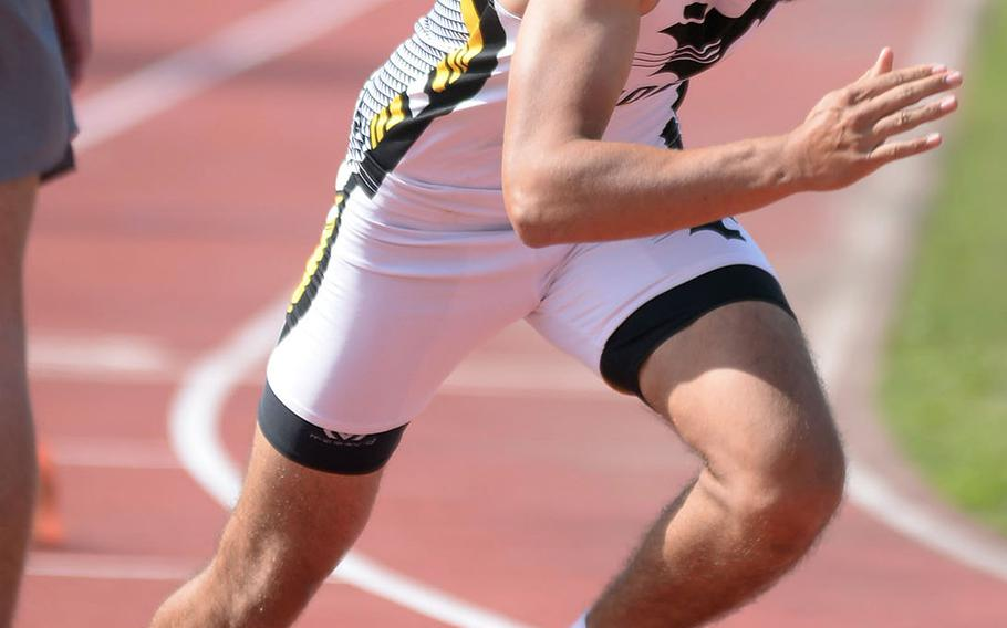 Kadena senior Beau Black, a former cross country runner, is trying his hand at track and field for the first time.