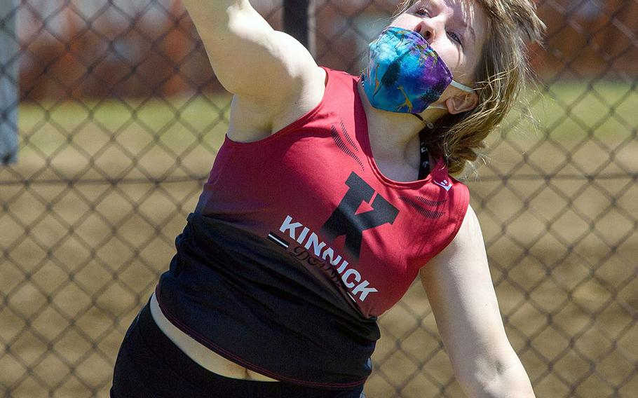 Nile C. Kinnick's Kathryn Withers won the girls shot put and discus during Saturday's DODEA-Kanto track and field meet.