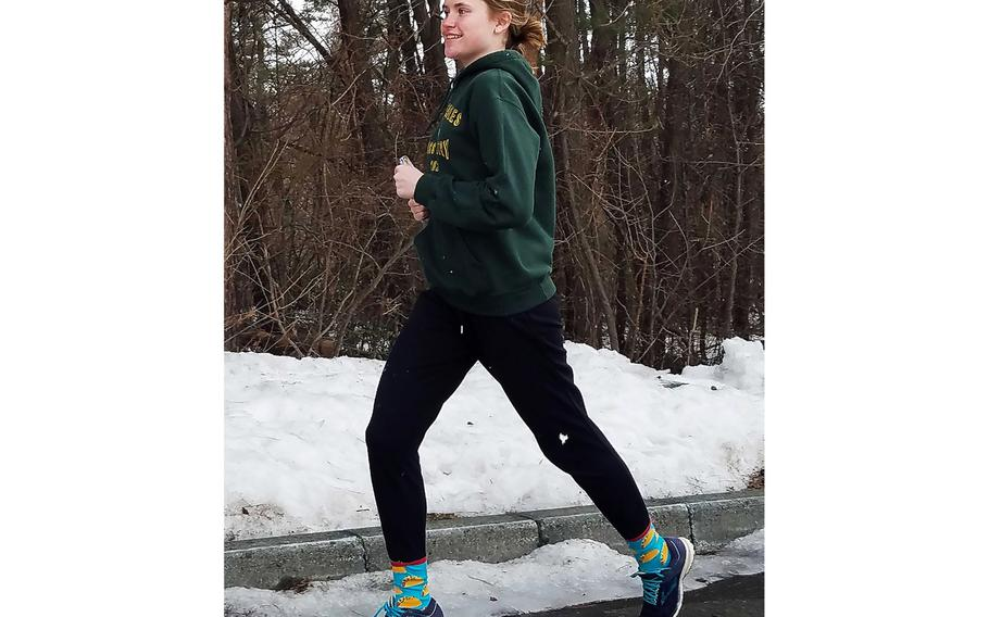 Robert D. Edgren junior Morgan Erler, who came in second overall in the virtual Far East cross-country meet in January with a time of 19 minutes, 37 seconds, now gets a chance to face the runner who beat her in that meet, Reagan Cheramie of Yokota, face-to-face on Saturday.