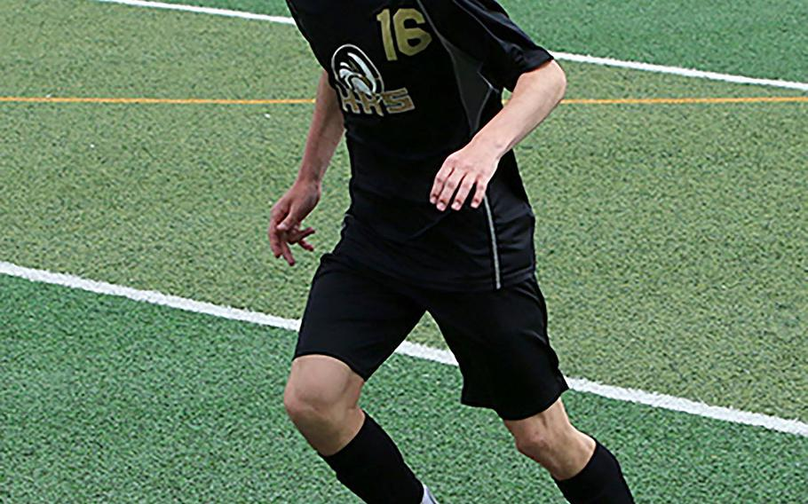 Sophomore John Matlock, who assisted on the second Humphreys' goal in their 2-0 shutout of Osan in the DODEA-Korea boys soccer championship, played a key role in the Blackhawks' unbeaten season, coach Peg Houk said.