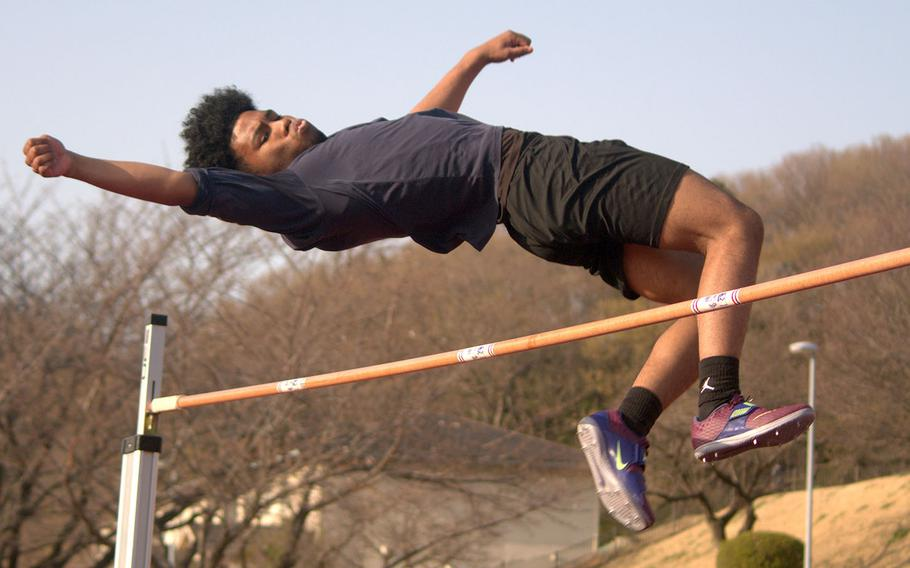 Zama's Kalil Irby took first place in the boys D-II high jump.