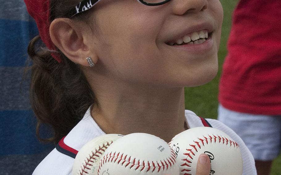 A young fan enjoys U.S. Army Day at Nationals Park in Washington, D.C., June 12, 2017.