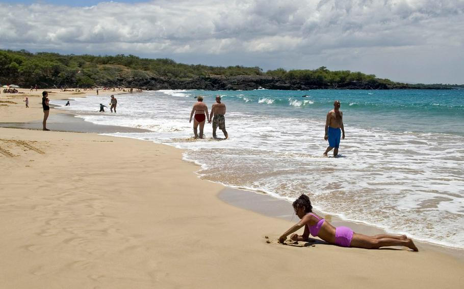 """This Aug. 30, 2006 file photo shows Hapuna Beach Park on the Big Island of Hawaii. Stephen Leatherman, a coastal scientist and professor at Florida International University, has been drafting a list of the best beaches in the U.S., under the alias """"Dr. Beach"""" since 1991. He has named Hapuna Beach Park the best beach in the country in his 2021 list."""