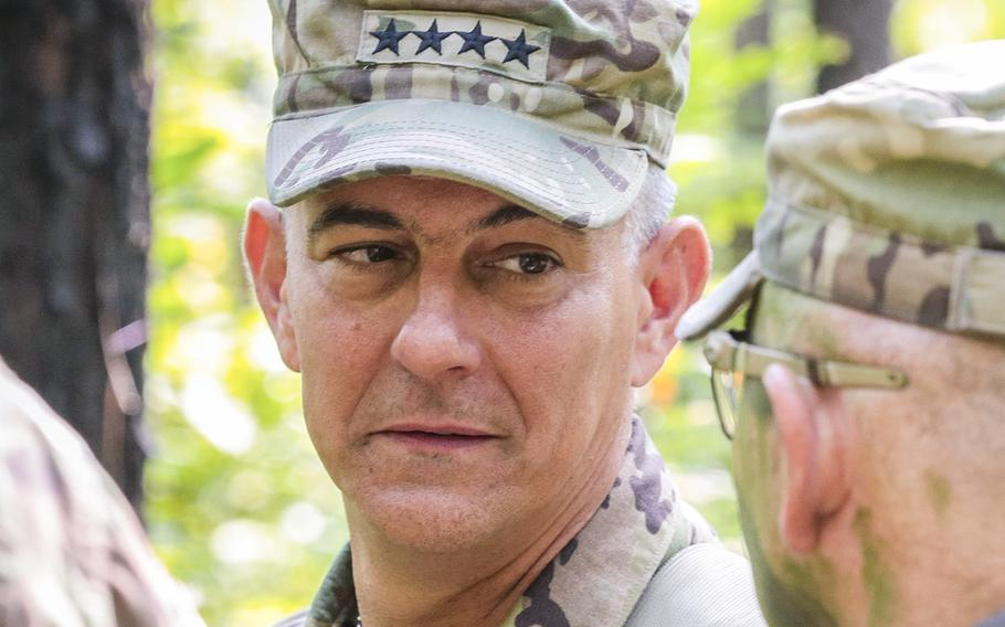 In an August, 2018 file photo, Gen. Stephen J. Townsend, commanding general of U.S. Army Training and Doctrine Command, tours the Maneuver Center of Excellence and Fort Benning, Ga.
