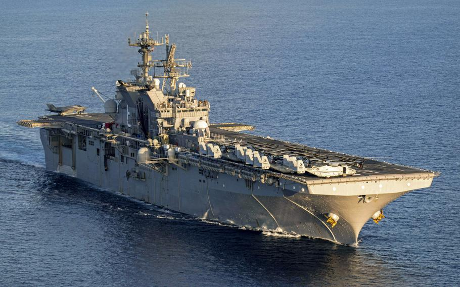 The USS Makin Island conducts operations in support of Operation Octave Quartz in the Indian Ocean, Dec. 19, 2020.