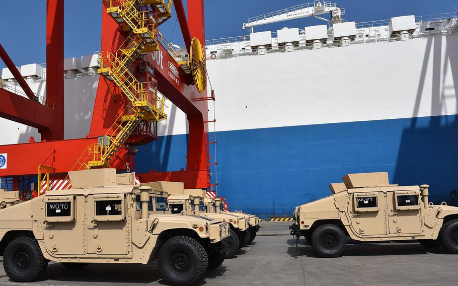 A shipment of 54 new Humvees arrived in Djibouti this week, as part of a $31 million train-and-equip partnership between the U.S. government and the Djiboutian military. The military vehicles will be delivered to the Djibouti armed forces for use by its new Rapid Intervention Battalion.