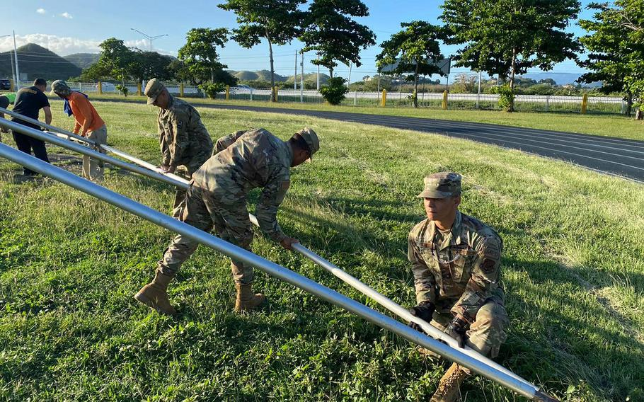 About 650 members of the Puerto Rico National Guard have been activated to help with building tents to shelter hundreds of residents who lost their homes following a 6.4-magnitude earthquake Jan. 7, 2020.