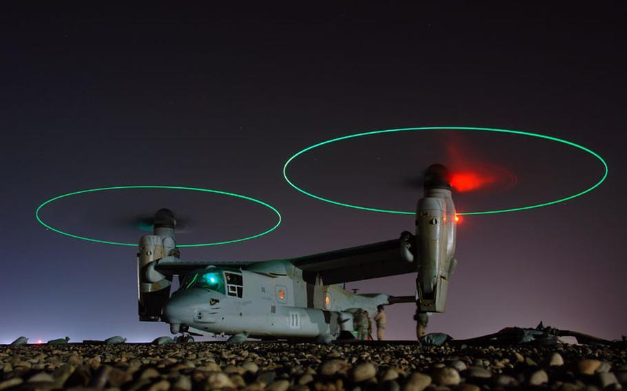 An MV-22 Osprey in Iraq