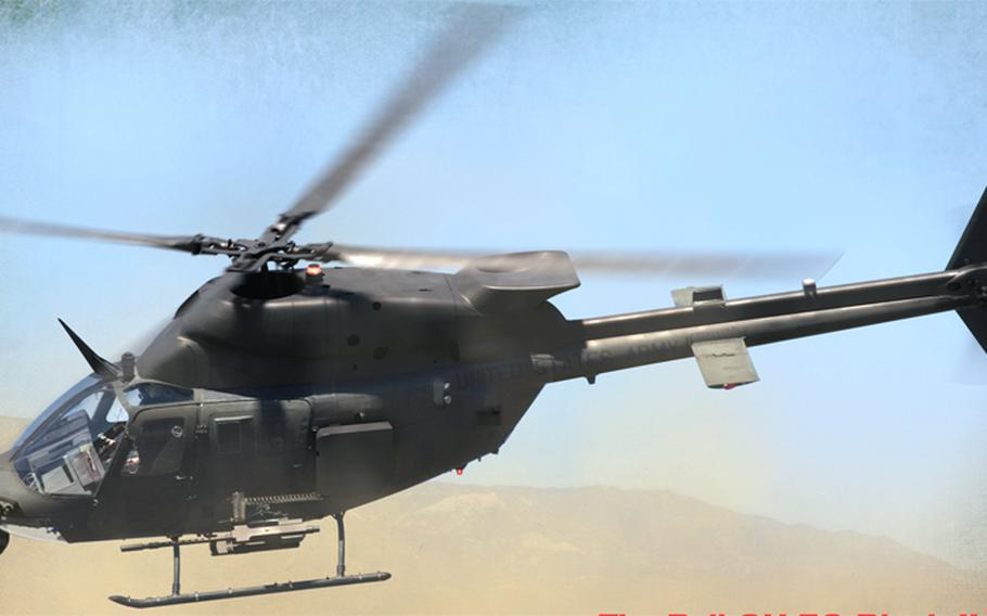The OH-58 Block II helicopter.