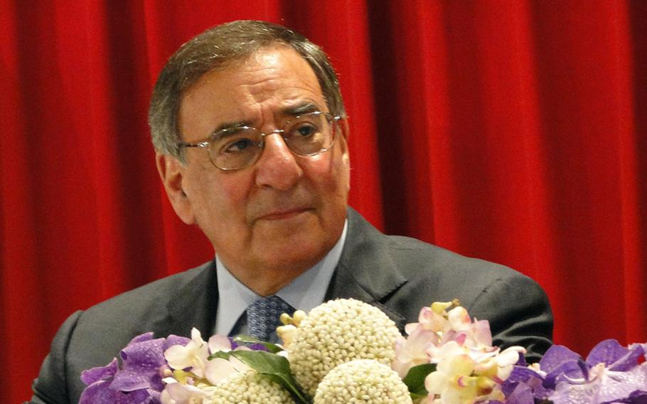 Secretary of Defense Leon Panetta at press conference at the the Thailand defense ministry on Nov. 15, 2012.